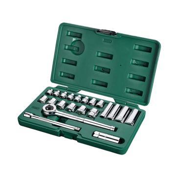 世达套筒组套,公制10mm系列21件套,09524,升级后为22件套