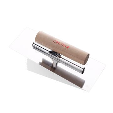 克里斯汀大师级不锈钢木柄抹泥刀,直角240mm×90mm,D8321