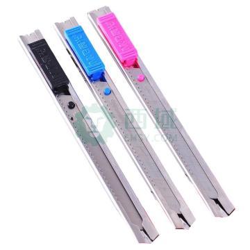 晨光 M&G 金属美工刀,ASS91314 小号 刀片宽度9mm (红、蓝、黑,颜色随机)单把