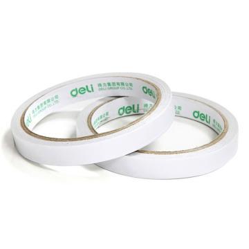 得力 棉纸双面胶带,9mm*10y 30404 2卷/袋 单位:袋