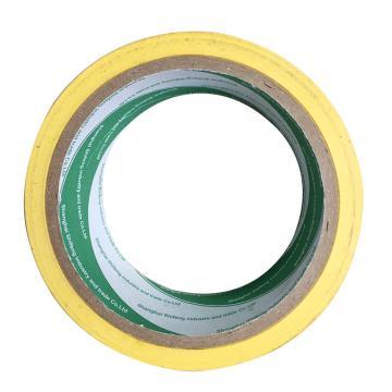 地面警示胶带,48mm×18m,黄色