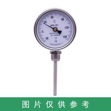 万向型双金属温度计,WSS-481 0-100° L=75 接头M27*2