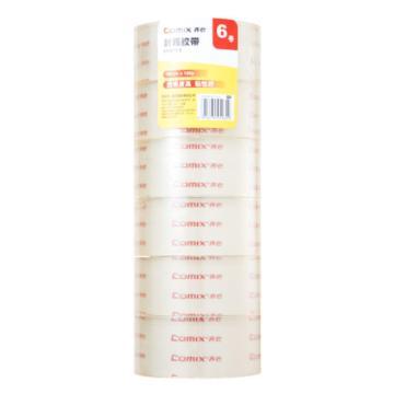 齐心 超透封箱胶带,JT4810-6 6卷/筒 48mm*100y 透明 单位:筒