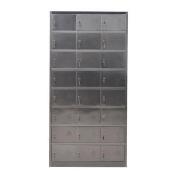 西域推荐 201不锈钢二十四门更衣柜,900宽*350深*1800高,灰白色,钢板厚度为0.7mm