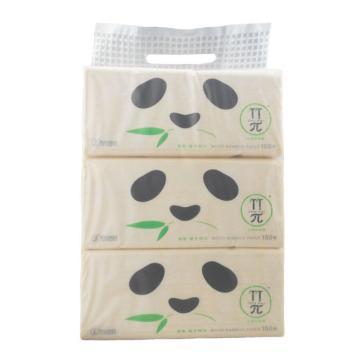 心相印 竹π ZDT2150(3包装) 150抽三层塑装纸面巾,3包x20提/箱 单位:提