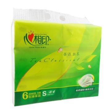 心相印茶语丝享系列 DT15130(6包装) 130抽三层塑装纸面巾,6包/提 单位:提