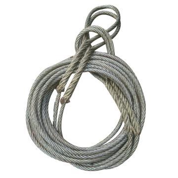 西域推荐 油性钢丝绳(手工编扣编好),φ13.5mm*6m 插编长度30cm