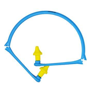 代尔塔DELTAPLUS 可重复使用耳塞,103110,CONICAP01 折叠耳机式PU发泡材质,1副