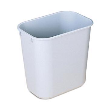 乐柏美Rubbermaid中型垃圾桶,295600灰色,26.6L(不含盖)