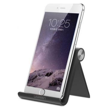 绿联 手机平板支架, 桌面可调节角度懒人支架黑色 单位:个