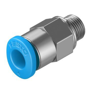 费斯托FESTO 小型快插直通接头,外螺纹,带外六角,QSM-M5-4,153304