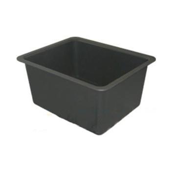 台雄水槽,SAN-5102B,PP,中型,内径:385x285x275mm,黑色