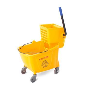 白云加厚单桶榨水车,AF08080 32L,榨水车挤水车拖把桶柞水车压水桶地拖桶