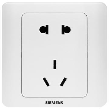 西门子SIEMENS 远景系列一位10A联体二三极插座,5UB01061CC1 雅白