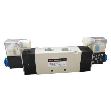 欧雷凯OLK 电磁阀,2位5通双电控,4V420-15-AC220V
