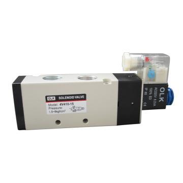 欧雷凯OLK 电磁阀,2位5通单电控,4V410-15-DC24V