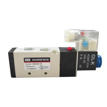 欧雷凯OLK 电磁阀,2位5通单电控,4V310-10-AC220V