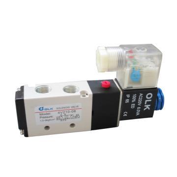 欧雷凯OLK 电磁阀,2位5通单电控,4V210-08-DC24V