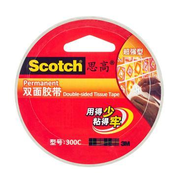 3M思高 双面胶带, 超强型 300C 24MM*9.5M,单卷