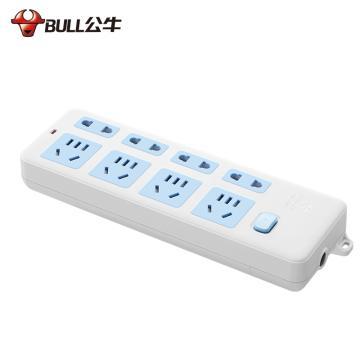 公牛BULL 接线板,总控开关(新国标),基础系列,GN-403 无电线 8位