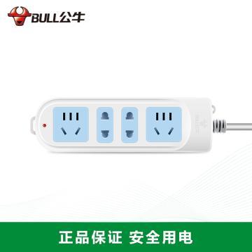 公牛BULL 接线板(新国标),基础系列,GN-101 1.8米 4位