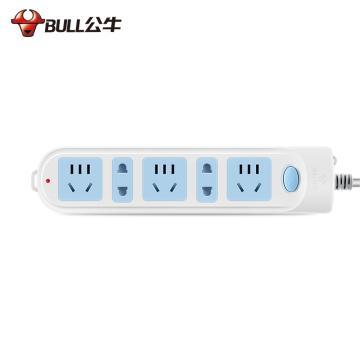 公牛BULL 接线板,总控开关(新国标),基础系列,GN-608 5米 5位