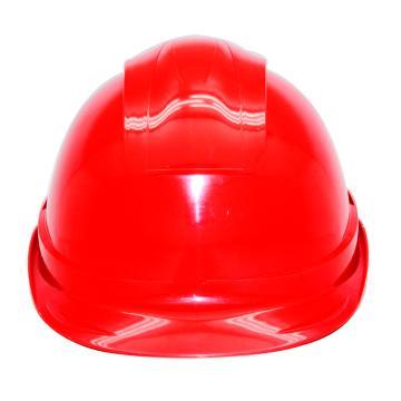 安铠迅 安全帽,GY-A4-红(同一系列30顶起订),一字型ABS安全帽 红色