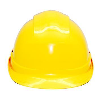 安铠迅 安全帽,GY-A4-黄(同一系列30顶起订),一字型ABS安全帽 黄色