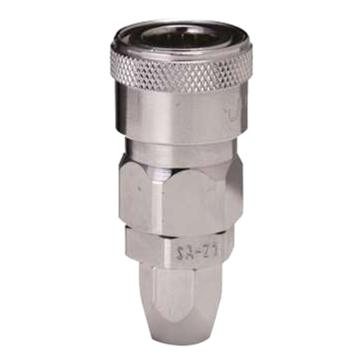 JPE 螺帽式PU管用插座,Φ6.5xΦ10,碳钢,AFE-22SB