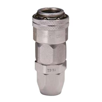 JPE 单插式螺帽式PU管插座,Φ8xΦ12,碳钢,AFE-23YSA