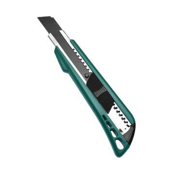 世达美工刀,塑柄推钮 8节18x100mm, 93422A
