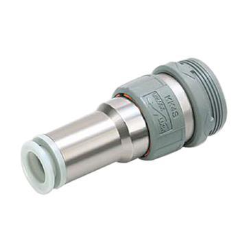 SMC 带单向阀热塑直通型插座,接管外径8mm,KK4S-08H,按5的倍数售卖