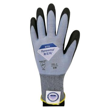 XZ/Dyneema® 3级防割手套,ESC1618-6,18针迪尼玛®钻石纱 PU掌浸(行业定制)