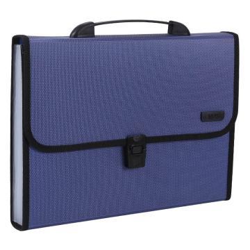 晨光 M&G 风琴包,AWT90959 A4 背宽40mm 12层 (蓝色) 单位:个