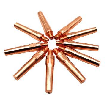 导电嘴是沪工CO2气保焊枪导电嘴,QTB-φ1.8,M6*45,紫铜,100只/包