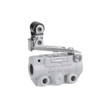 SMC 机控阀,机械操作,侧配管,单方向滚轮杠杆式,二位三通,R1/8,VM131-01-02A