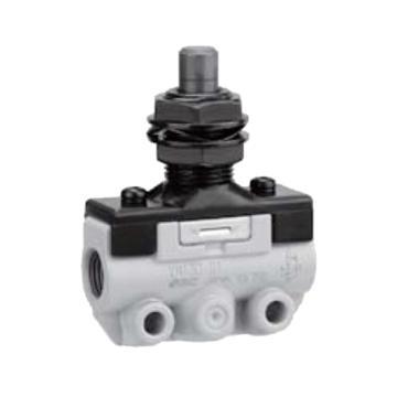 SMC 机控阀,机械操作,侧配管,直动式,二位三通,R1/8,VM130-01-05A