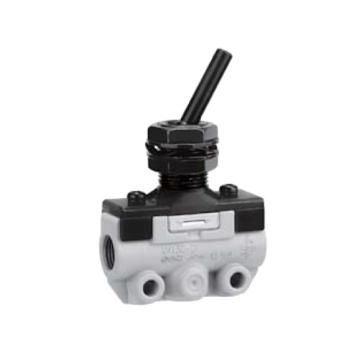 SMC 机控阀,手动操作,肋杆式,侧配管,二位二通,R1/8,VM120-01-08A