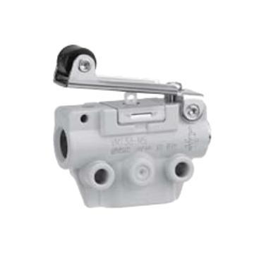 SMC 机控阀,机械操作,下配管,滚轮杠杆式,二位三通,M5,VM133-M5-01SA
