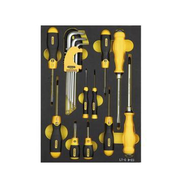 史丹利工具托,19件套公制紧固工具托,LT-029-23