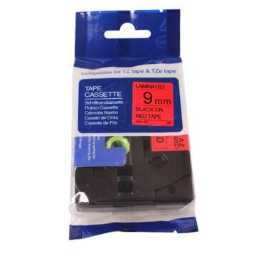 普贴 标签色带,红底黑字TZ2-421宽度9mm 适用于兄弟TZ系列标签机 单位:卷