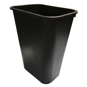 乐柏美Rubbermaid大型垃圾桶,39L FG295700,黑色,(不含盖子,盖子另配)