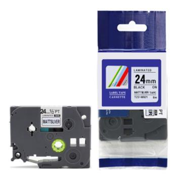 普贴 标签色带,银底黑字TZ2-M951宽度24mm 适用于兄弟TZ系列标签机 单位:卷