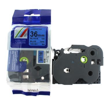 普贴 标签色带,蓝底黑字TZ2-561宽度36mm 适用于兄弟TZ系列标签机 单位:卷