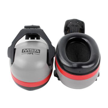 梅思安MSA 挂帽式耳罩,SOR12012,HPE高舒型 红色