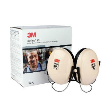 3M 颈戴式耳罩,H6B,PELTOR OPTIME 95系列 白黑