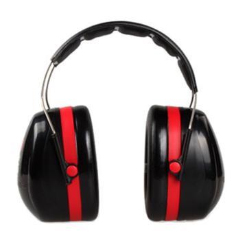 3M 头戴式耳罩,H10A,PELTOR OPTIME 105系列 红黑