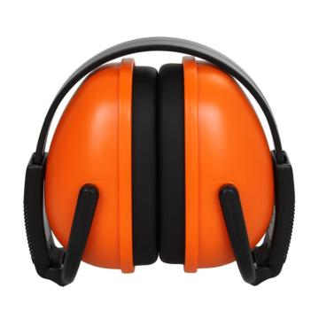 3M 头戴式耳罩,1436,经济型折叠式 红黑