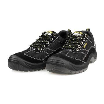 Safety Jogger 运动安全鞋,GOBI s1p-45,防砸防刺穿防静电透气安全鞋 黑色
