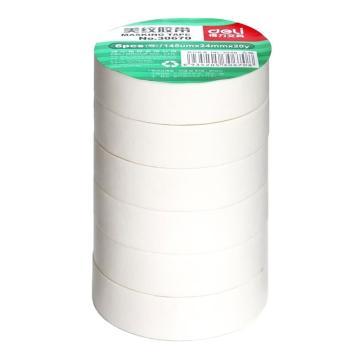 得力 美纹纸胶带,30670 24mm*20y*145um(微黄)(6卷/筒) 单位:筒